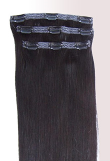 """Picture of Remi Clip in Clip on Human Hair Extensions 18"""" x 3"""