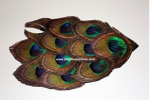 Picture of  Feather Headbands - Natural Peacock