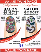 Picture of Sally Hansen Salon Effects - TWIN PACK ! Real Nail Polish Strips Sally Hansen Salon Effects 01 - Girl Flower + Fly With Me