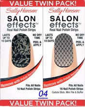 Picture of Sally Hansen Salon Effects - TWIN PACK ! Real Nail Polish Strips Sally Hansen Salon Effects 04 - Laced Up + Misbehaved