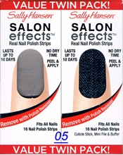 Picture of Sally Hansen Salon Effects - TWIN PACK ! Real Nail Polish Strips Sally Hansen Salon Effects 05 - Raise A Glass + Skinny Jeans