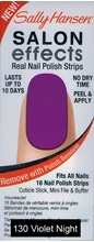 Picture of Sally Hansen Salon Effects - SINGLE PACK ! Real Nail Polish Strips Sally Hansen Salon Effects - 130 VIOLET NIGHT