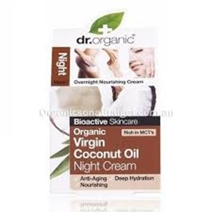 Picture of Dr Organic - Virgin Coconut Oil Night Cream 50 ml