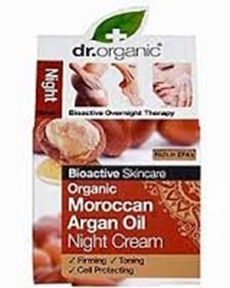 Picture of  Dr Organic Night Cream-Moroccan Argan Oil